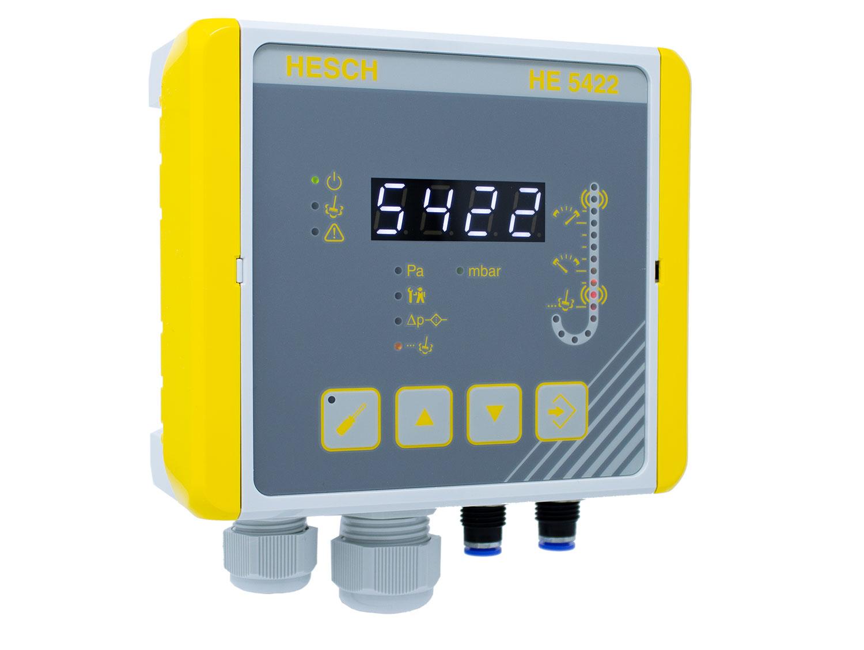 Der neue Differenzdruck-Regler HE 5422 mit Pre-coating- und Datahold-Funktion